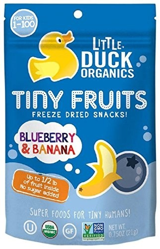 Little Duck Organics Tiny Fruit, Blueberry & Banana [6 Packs]