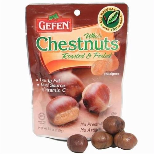 Gefen Roasted Whole Chestnuts, Shelled, 5.2 Oz Bag (Case of 12)