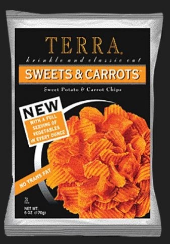 Terra Chips, Sweets and Carrots Potato Chips