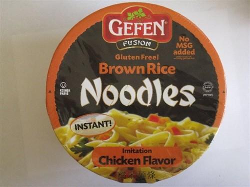 Gefen GF Brown Rice Noodle Bowl, Chicken (12 Pack)