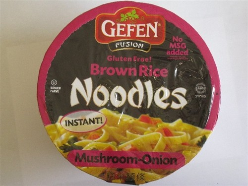 Gefen GF Brown Rice Noodle Bowl, Mushroom Onion