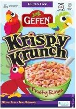 Gefen Gluten Free Krispy Krunch, Fruity Rings (Case of 12)
