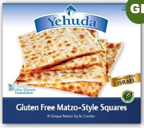 Yehudah Gluten Free Matzo Squares, 10.5 Oz Box