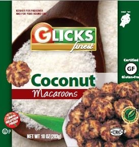 Glick's Gluten Free Coconut Macaroons (Case of 12)