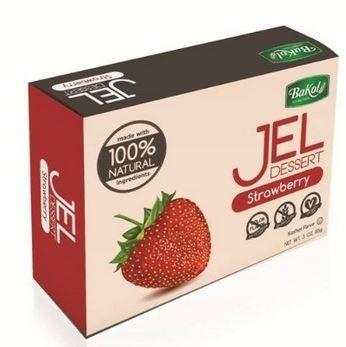 Bakol All Natural Gluten Free Jello, Strawberry, 3 Oz. (12 Per Case)