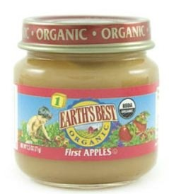 Earth's Best Baby Food Jar, First Apples