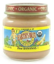 Earth's Best Baby Food Jar, First Bananas