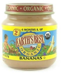 Earth's Best Baby Food Jar, Strained Bananas