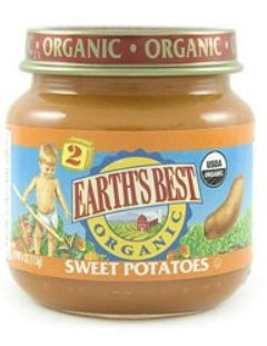 Earth's Best Baby Food Jar, Strained Sweet Potatoes