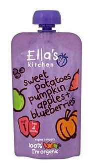Ella's Kitchen Organic Baby Food - Apple, Sweet Potato, Pumpkin & Blueberries, 3.5 Oz (6 Pouches)