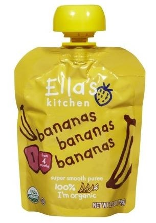 Ella's Kitchen Organic Baby Food - Bananas, Bananas, Bananas, 2.5 Oz (6 Pouches)