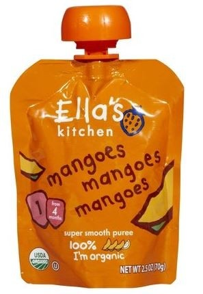 Ella's Kitchen Organic Baby Food - Mangos, Mangos, Mangos, 2.5 Oz (6 Pouches)