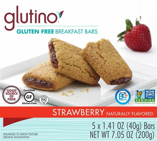Gluten Free Strawberry Breakfast Bars [Case of 6]