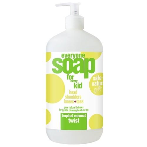 EO® Everyone 3-in-1 Botanical Soap for Kids, Tropical Coconut Twist - 32 fl oz