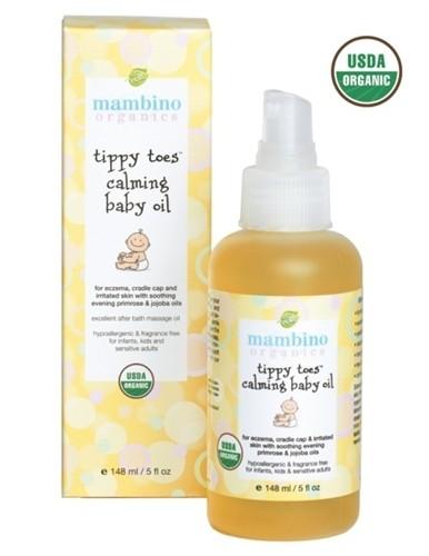 Mambino Organics Tippy Toes Calming Baby Oil, 5 fl oz