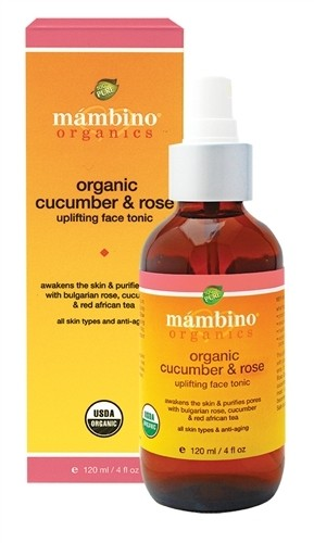 Mambino Organics Organic Cucumber and Rose Uplifting Face Tonic, 4 fl oz