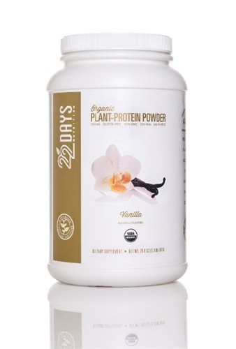 22 Days Nutrition Plant Protein Powder, Vanilla, 28.6 oz