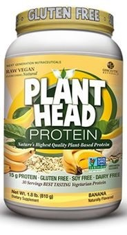 Genceutic Naturals Plant Head Protein, Banana Flavor, 1.8 lb