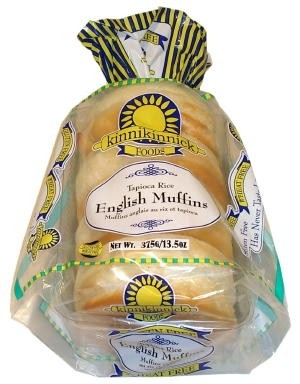 Gluten Free Tapioca Rice English Muffins [Case of 6]