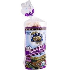 Organic Brown Salt Free rice cakes [Case of 12]