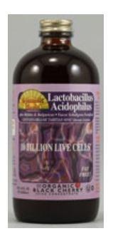 Dynamic Health Liquid Supplement, Lactobacillus Acidophilus Black Cherry