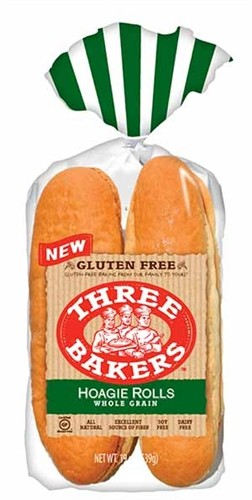Three Bakers Gluten Free Hoagie Buns(Case of 6)