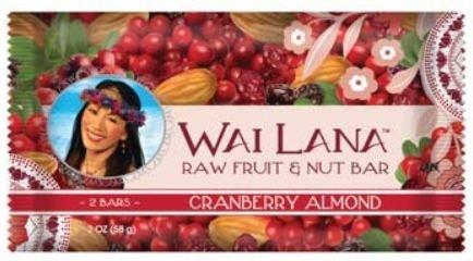 Wai Lana Raw Fruit & Nut Bar, Cranberry Almond