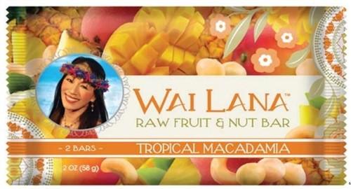 Wai Lana Raw Fruit & Nut Bar, Tropical Macadamia