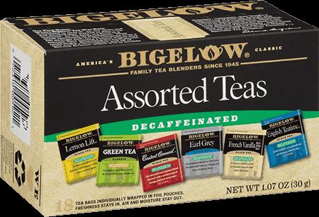Bigelow Tea, Assorterd Teas, Decaf, 6 Flavors