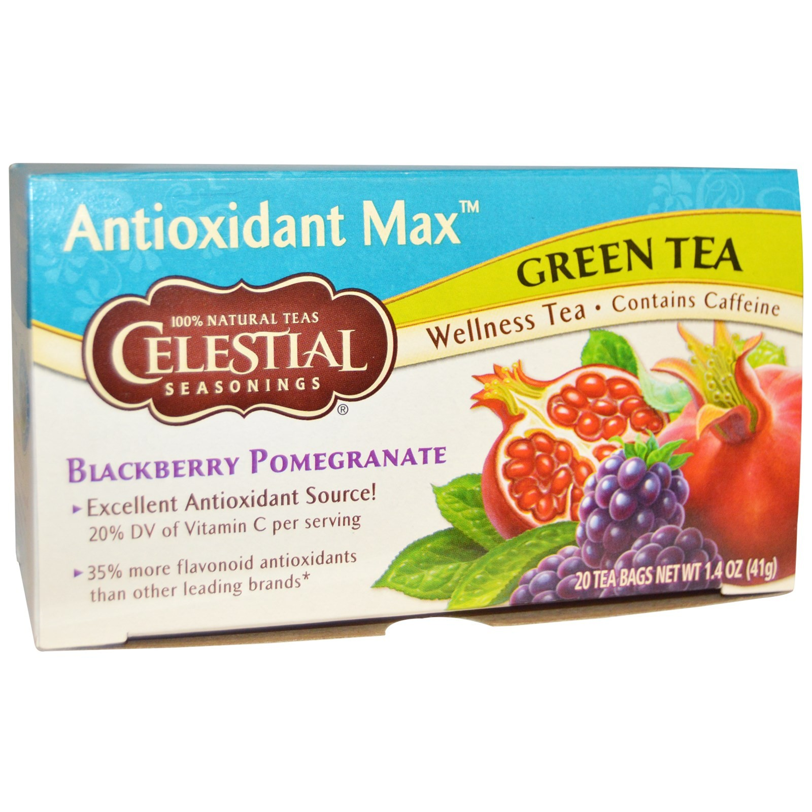 Antioxidant Max Green Tea Blackberry Pomegranate
