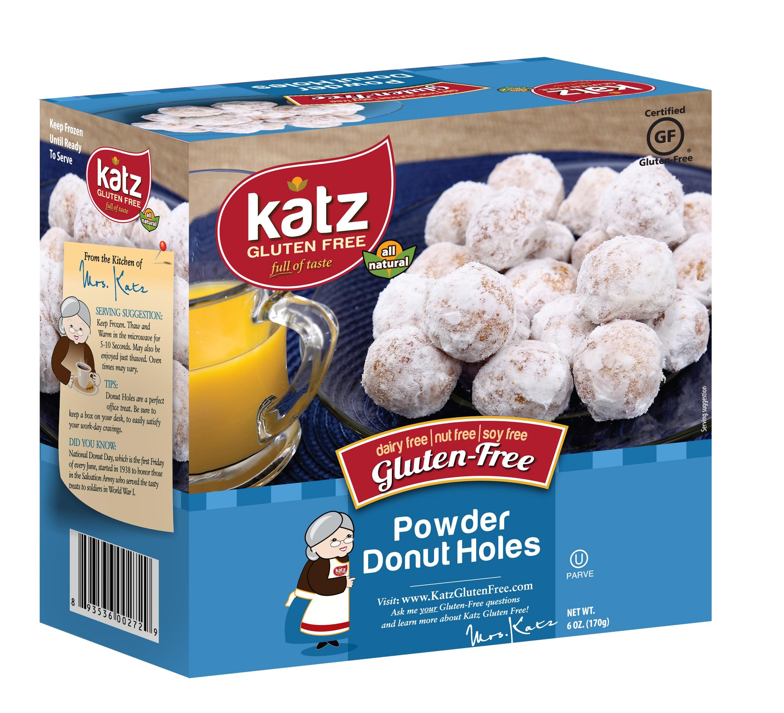 Katz Gluten Free Powdered Donut Holes [Case of 6]
