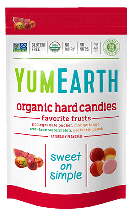 Yummy Earth Family Size Organic Drops Pouch, Vitamin C Assorted Flavors Drops