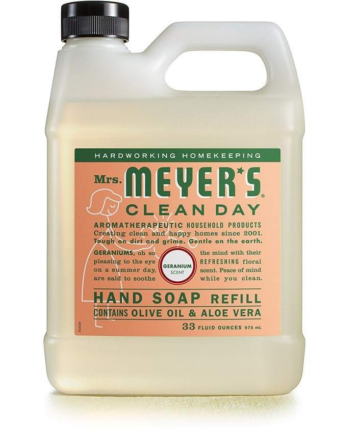 Mrs. Meyer's Clean Day Liquid Soap Refill, Geranium, 33 Oz