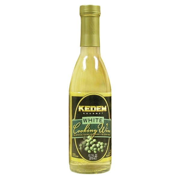 Kedem White Cooking Wine, 12.7 Oz Bottle (Case of 12)