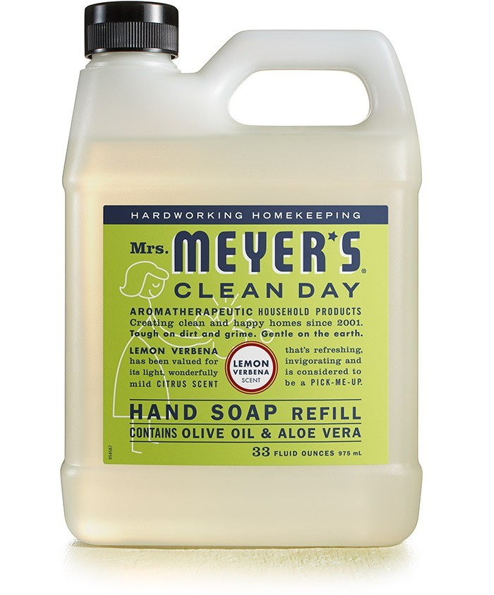 Mrs. Meyer's Clean Day Liquid Hand Soap Refill, Lemon Verbena, 33 oz