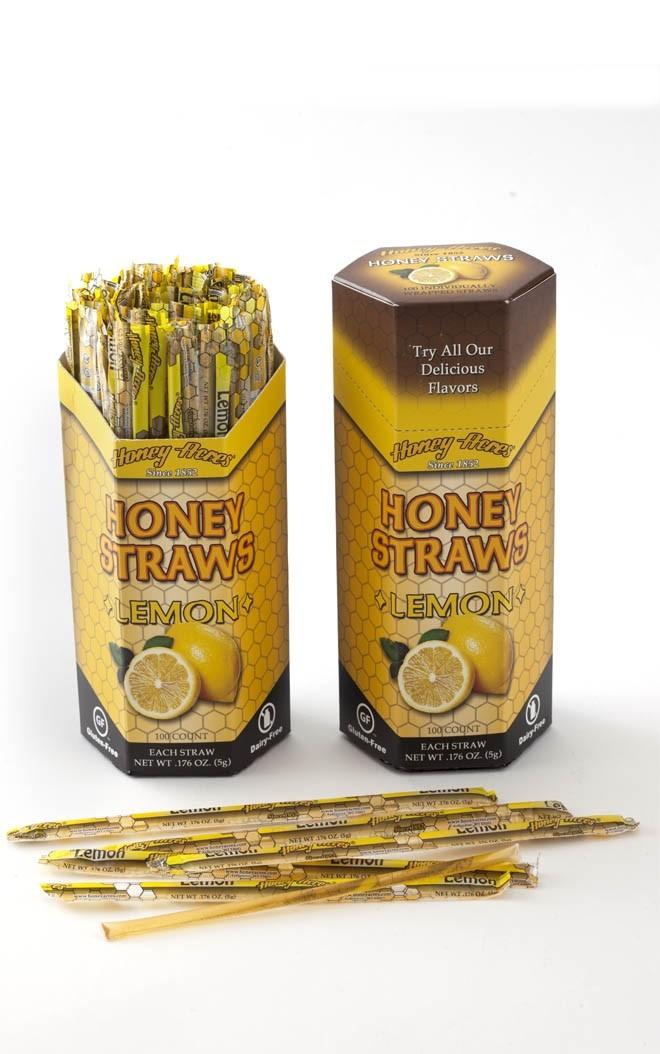 Honey Acres Honey Straws, Lemon Flavor, 100 Straws