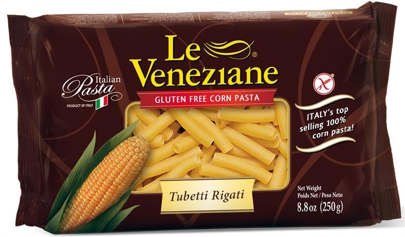 Le Veneziane Gluten Free Tubetti Rigate, 8.8 Oz