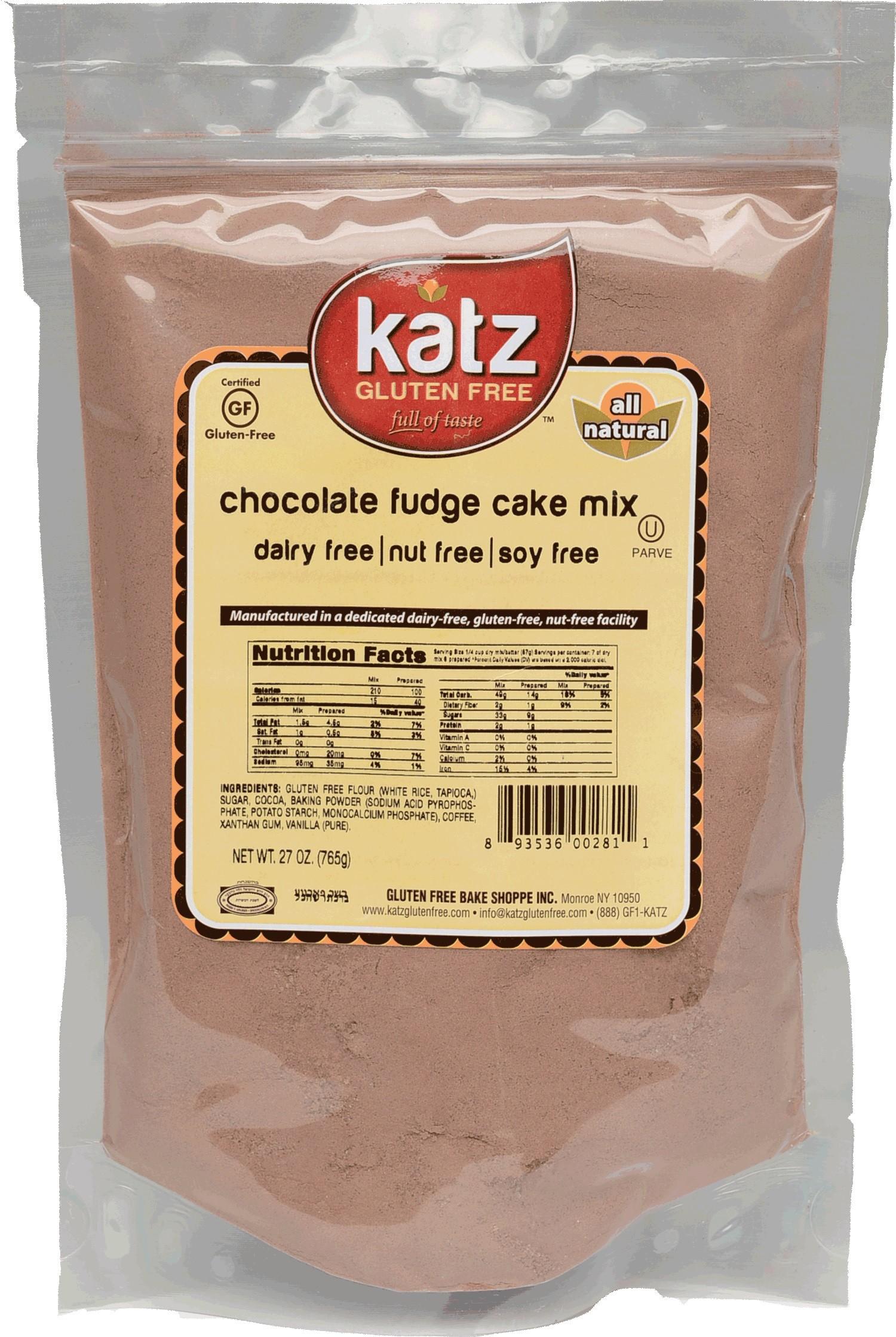 Katz Gluten Free Chocolate Fudge Cake Mix (Case of 6)