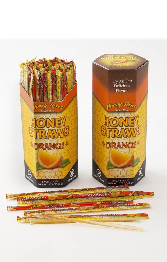 Honey Acres Honey Straws, Orange Flavor, 100 Straws