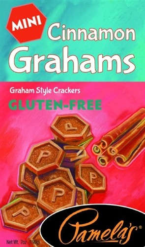 Pamela's Gluten Free Mini Grahams, Cinnamon, 7 Oz [6 Pack]
