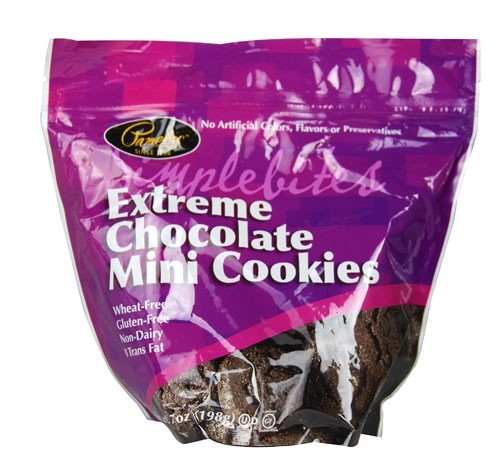 Pamela's Gluten Free SimpleBites, Extreme Chocolate Mini Cookies, 7 Oz [Case of 6]
