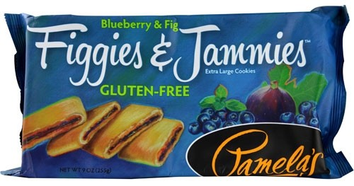 Pamela's Gluten Free Figgies and Jammies Cookies, Blueberry & Fig, 9 Oz Bag [6 Pack]