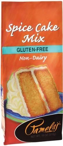 Pamela's Gluten Free Spice Cake Mix, 18 Oz [6 Pack]