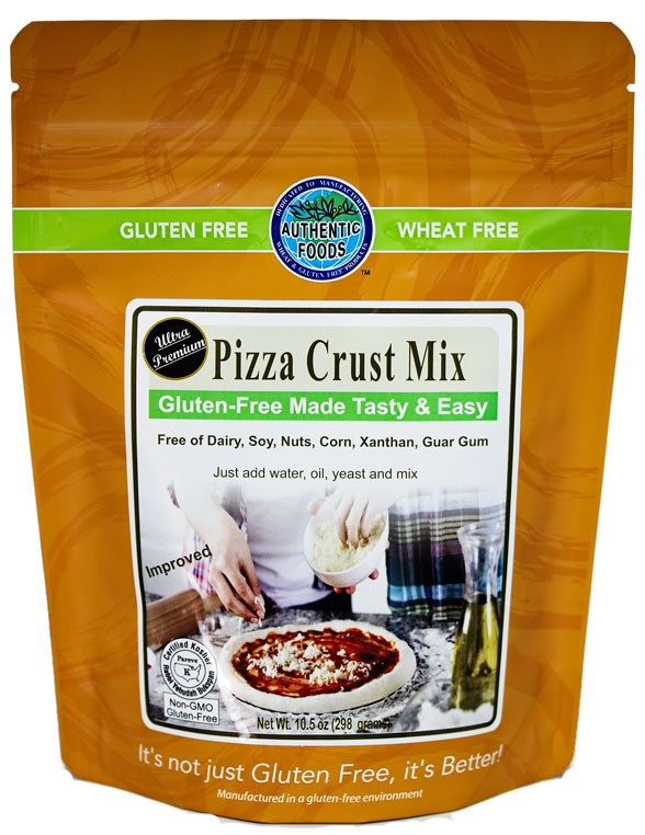 Authentic Foods Gluten Free Pizza Crust Mix, 10 Oz
