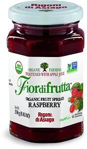Fiordifrutta Organic Jam Spread, Raspberry, 8.82 OZ (Case of 6)