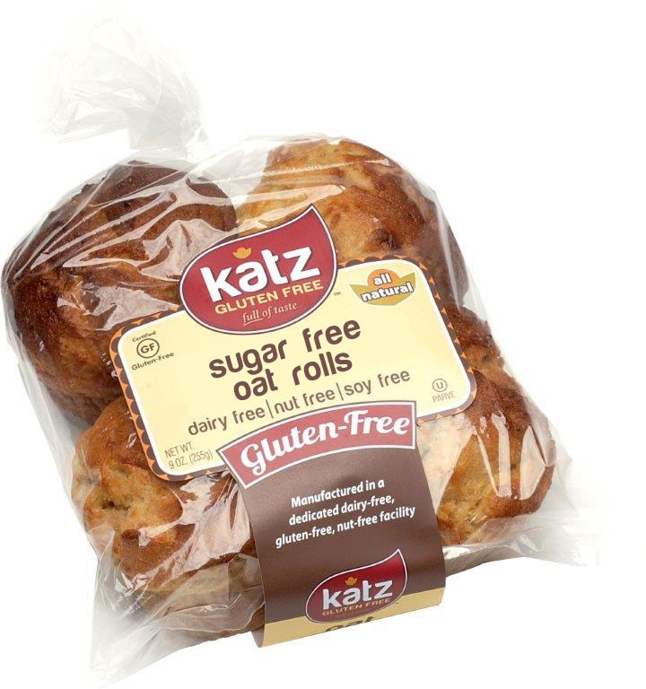 Katz Gluten Free Sugar Free Oat Challah Rolls [Case of 6]