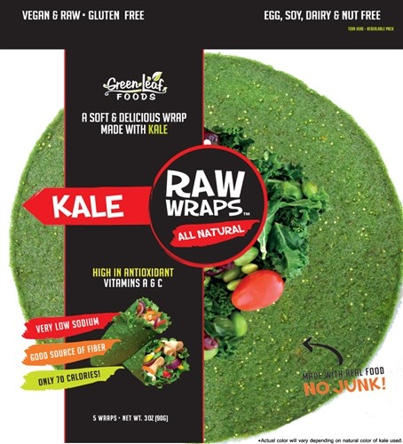 Raw Wraps, Kale [Case of 6]