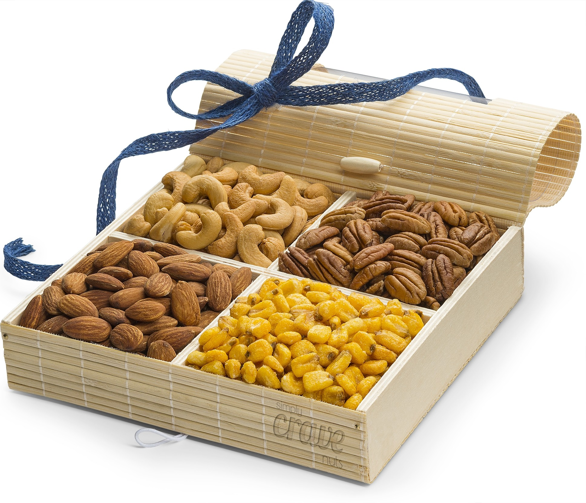 Simply Crave Nut Gift Baskets, Gourmet Food Gift, Nuts Tray Gift Assortment, Classic (Large)