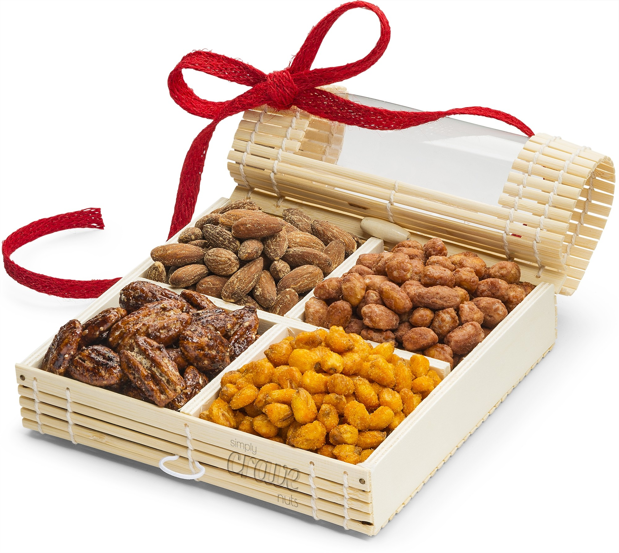 Simply Crave Nut Gifts Holiday, Holiday Gift Tray, Gourmet Food Gift, Nuts Tray Gift Assortment, Holiday (Small)
