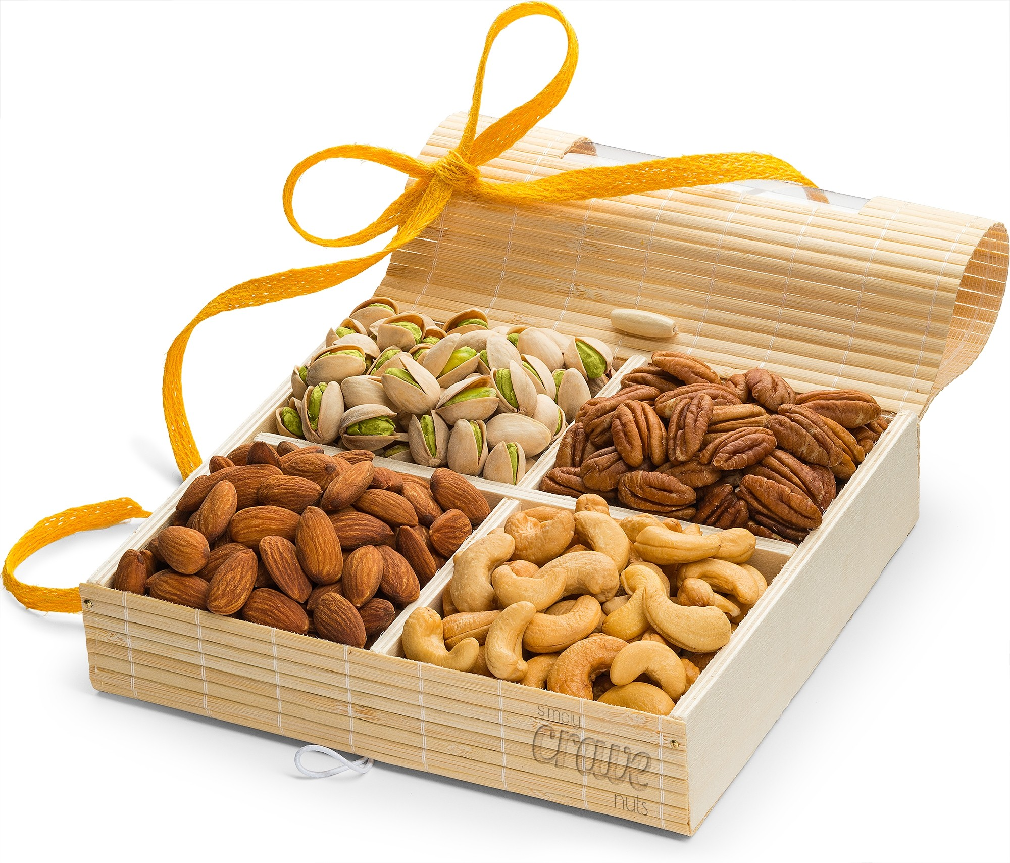 Simply Crave Nut Gift Baskets, Gourmet Food Gift, Nuts Tray Gift Assortment, Classic Unsalted (Large)